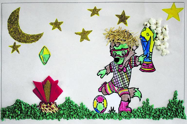 Desenho feito por Bryan Souza Zanin, sete anos, vencedor do concurso do CPP (Centro do Professorado Paulista)