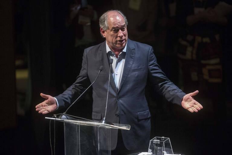 O presidenciável Ciro Gomes (PDT), em evento em São Paulo, na semana passada