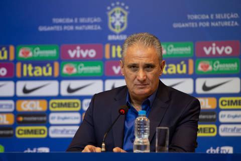 O técnico Tite anunciou nesta sexta-feira (17) a lista de 24 convocados para os amistosos de setembro da seleção brasileira