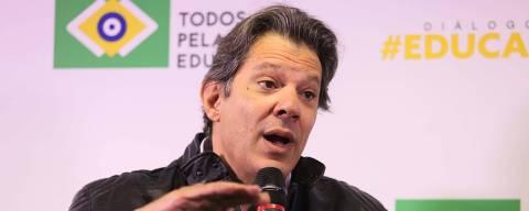 São Paulo SP Brasil16 08 2018   O movimento Todos pela Educação receberá o ex-prefeito Fernando Haddad, candidato a vice-presidente do PT que representa a chapa de Lula,  durante  debate da série Diálogos Educação Já.  Jorge Araujo Folhapress 703 , ORG XMIT: XXX