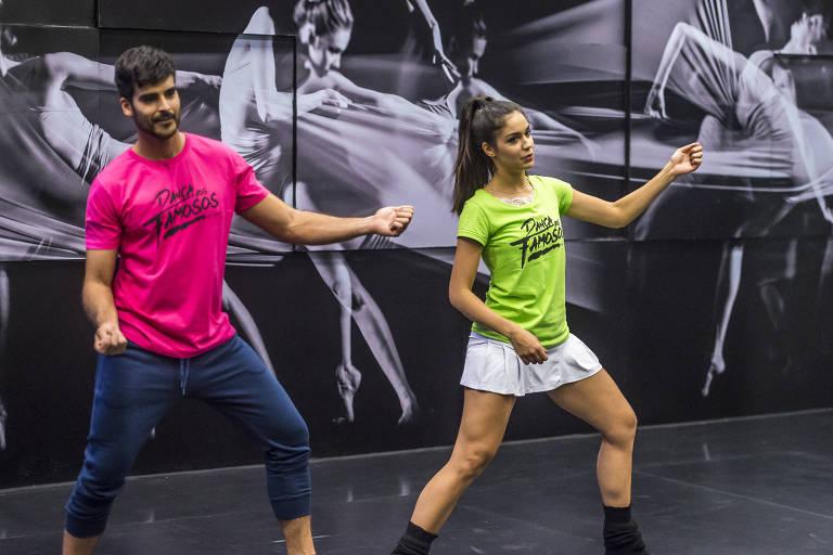Anderson Tomazini e Juliana Acácio na Dança dos Famosos