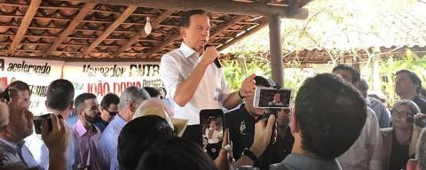 Doria inicia campanha discursando em festa de peão em Barretos