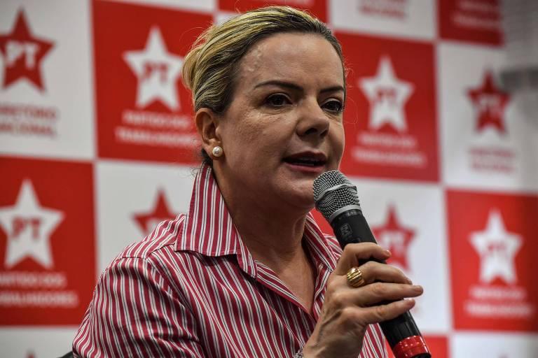 A senadora Gleisi Hoffmann, do PT