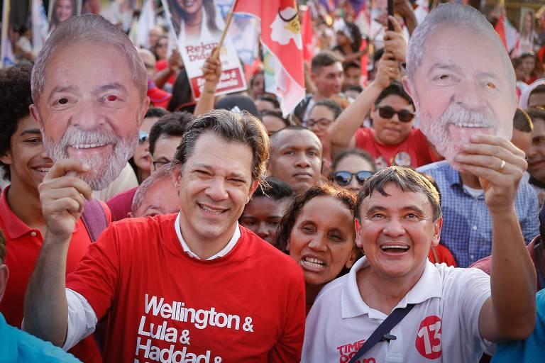 Fernando Haddad, vice na chapa de Lula, participa de caminhada com o governador Wellington Dias nesta sexta-feira (17) em Teresina