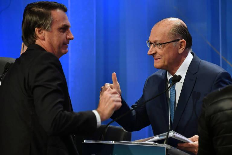 Candidatos à Presidência, Jair Bolsonaro e Geraldo Alckmin