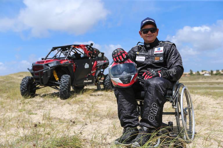 Paraplégico aos 13 anos de idade, Antônio Cavalcante vai competir no Rally dos Sertões com um carro adaptado