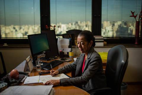 SÃO PAULO, SP, BRASIL, 14-08-2018: Retrato da nova presidente do TRT-2a região, o maior do Brasil, Rilma Aparecida Hemetério, no TRT 2a. (Foto: Bruno Santos/ Folhapress) *** FSP-MERCADO*** EXCLUSIVO FOLHA***