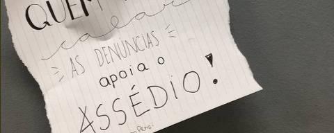 Bilhete no colégio Pensi, no Rio de Janeiro