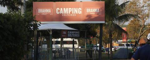 BARRETOS, SP BRASIL- 17-08-2018 :    Area de camping de solteiros dentro do Parque do Peão de Barretos. Camping de solteiros é zona ond evale tudio.    ( Foto: Joel Silva/Folhapress ) ***COTIDIANO *** ( ***EXCLUSIVO FOLHA***)