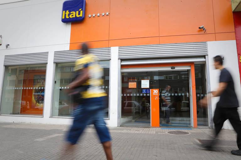Agência do Itaú Unibanco na região central de São Paulo