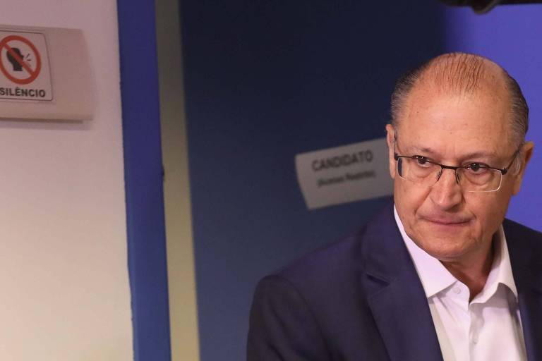 Geraldo Alckmin,candidato tucano à Presidência da Republica durante sabatina hoje em São Paulo