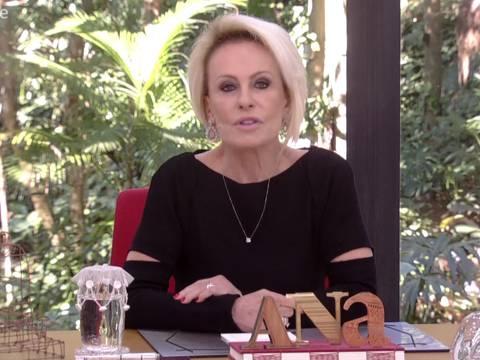 Ana Maria Braga se emociona ao falar de funcionário morto