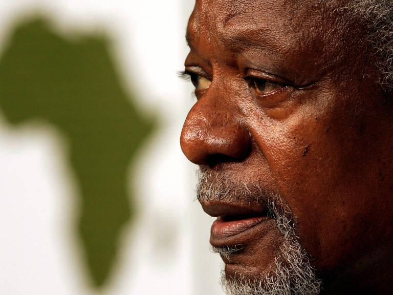 Desde 1998, Kofi Annan escreveu sobre liberdade de imprensa e eleições na Folha