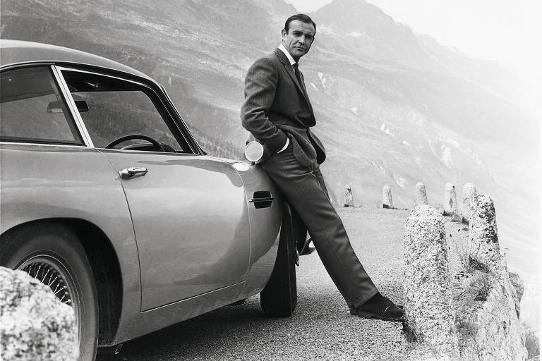 Sean Connery como James Bond em '007 Contra Goldfinger', de 1964