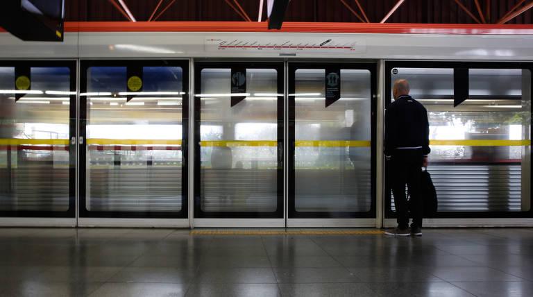 Portas automáticas no Metrô