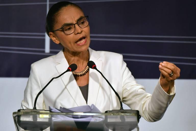 A presidenciável Marina Silva (Rede) chamou de retrocesso o saudosismo em relação à ditadura