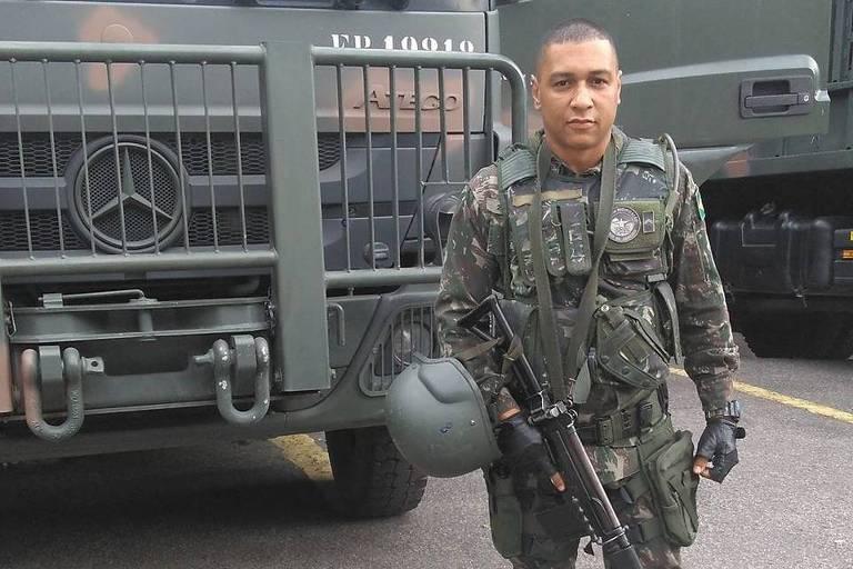 Cabo Fabiano de Oliveira Santos, 36, morto em operação comandada pela intervenção federal no Rio