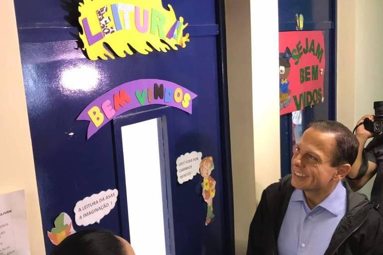 João Doria visita creche na zona sul durante campanha ao governo de SP