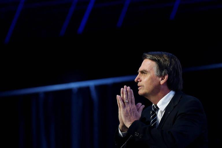O presidenciável Jair Bolsonaro (PSL), acusado de racismo em relação a quilombolas e outros grupos sociais