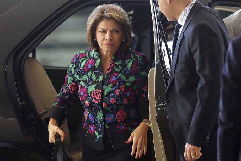 A presidente da missão da OEA para observação das eleições no Brasil, Laura Chinchilla, chega ao Planalto para encontro com o presidente Michel Temer