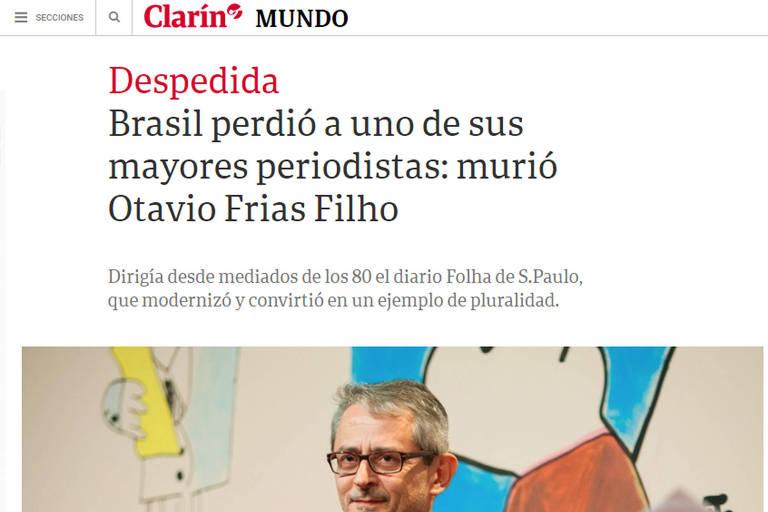 'O Brasil perdeu um de seus maiores jornalistas', diz reportagem do jornal argentino Clarín