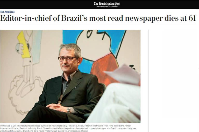 Mídia estrangeira noticia morte de Otavio Frias Filho