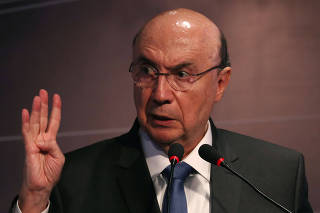 Presidential candidate Henrique Meirelles of the Brazilian Democratic Movement (MDB) attends an event in Sao Paulo