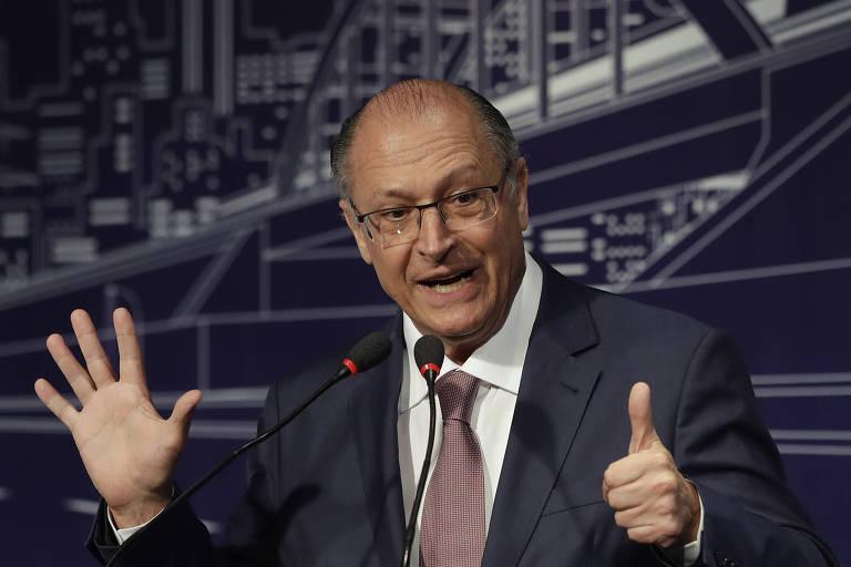 O presidenciável Geraldo Alckmin (PSDB), que tem coligação questionada pelo MDB