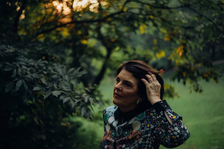 A astróloga Susan Miller no Central Park, em Nova York
