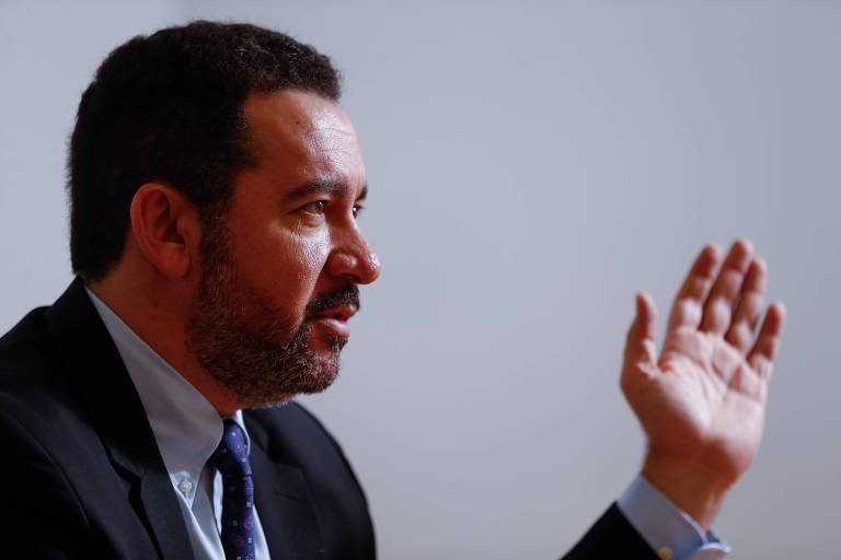 Presidente do BNDES, Dyogo Oliveira, durante entrevista à Folha em seu gabinete, em Brasília (DF)