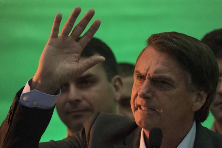 O presidenciável Jair Bolsonaro (PSL), que 'em princípio' vai participar dos próximos debates na TV