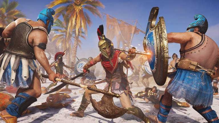 Print de jogabilidade do 'Assassin's Creed: Odyssey'