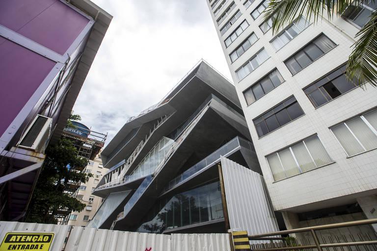 Fotos da fachada do MIS - Museu da Imagem e do Som, localizado na orla de Copacabana na zona sul do Rio, em 2016