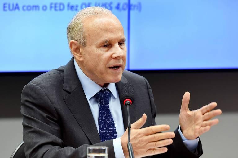 O ex-ministro da Fazenda e ex-presidente do BNDES Guido Mantega, um dos indiciados no relatório final da operação Bullish