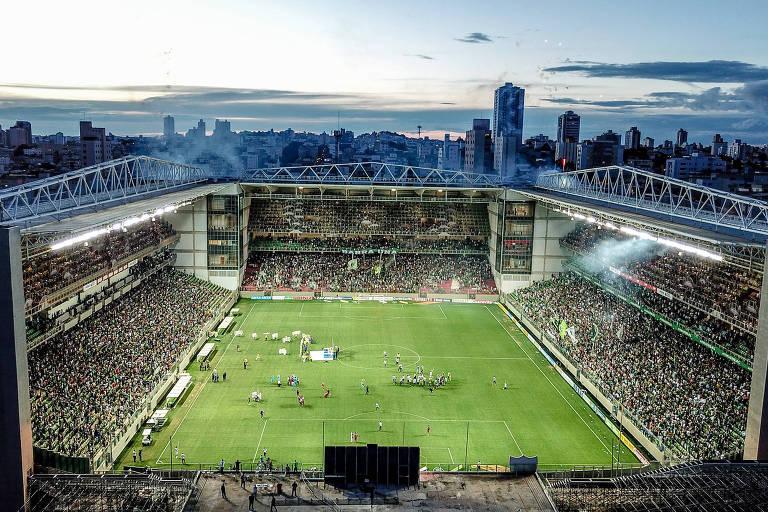 O estádio Independência, em Belo Horizonte, vai ser o palco do duelo desta quarta (17) entre São Bento e Palmeiras