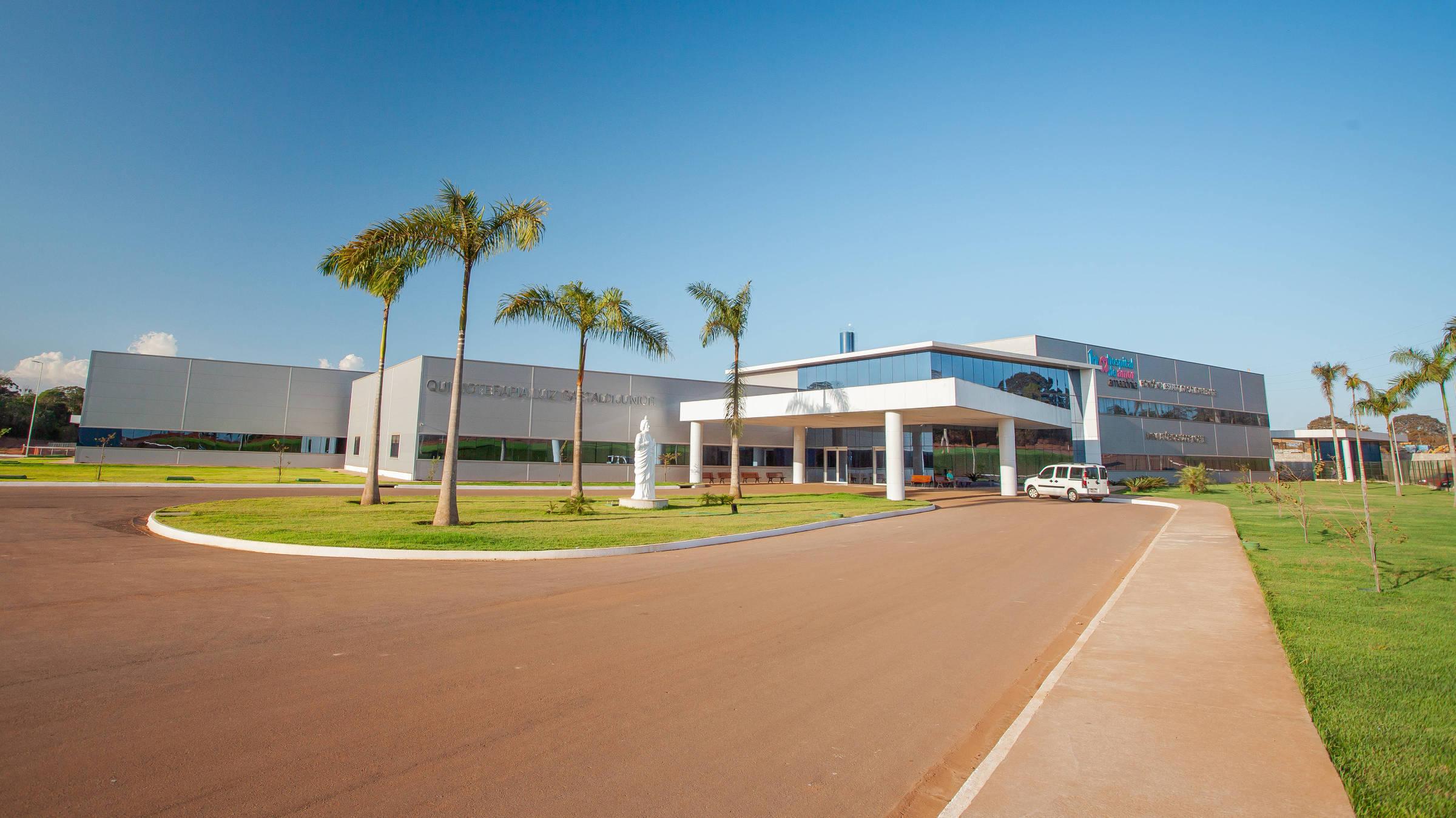 Principal entrada do Hospital de Amor na cidade de Porto Velho. Foto: Beethoven Delano/Folhapress