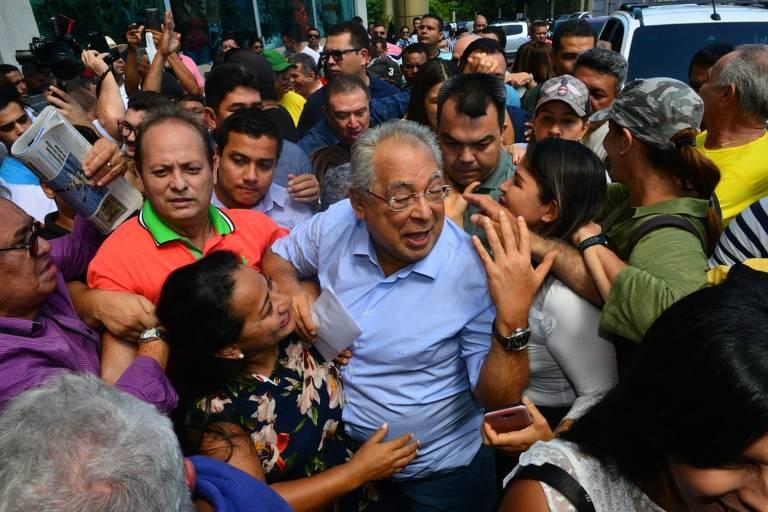 O governador Amazonino Mendes, 78, do PDT, que tenta a reeleição no Amazonas