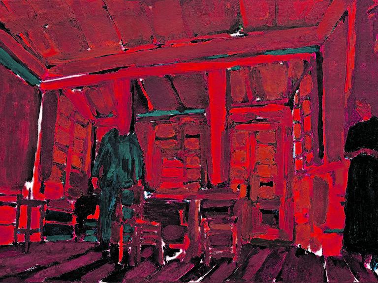 interior de cômodo vermelho