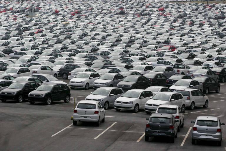 Patio da Volkswagen, em São Bernardo, em São Paulo