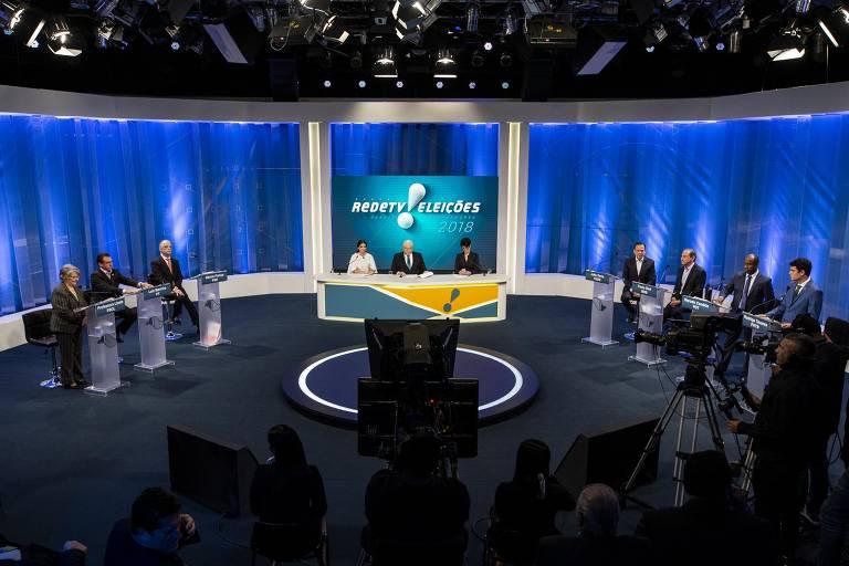 Debate dos candidatos de SP na RedeTV!, em 24 de agosto
