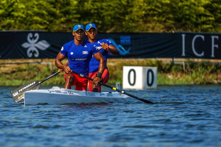 Erlon Souza e Isaquias Queiroz participam do Mundial de canoagem velocidade, em Montemor-o-Velho, em Portugal