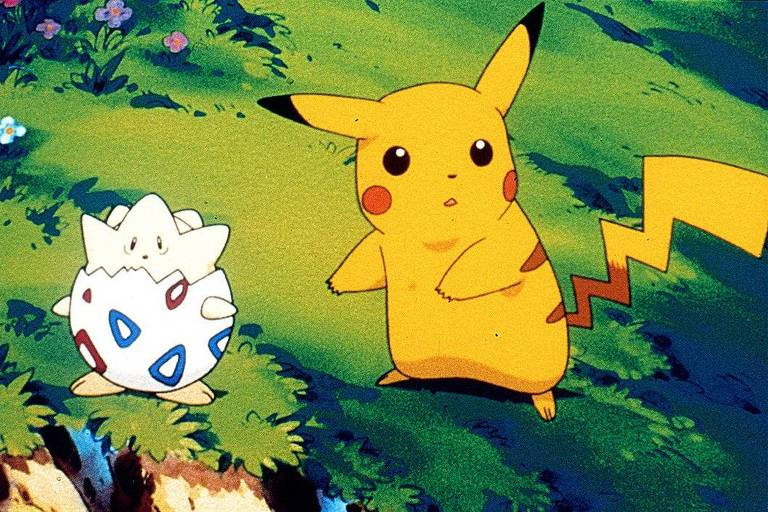 "Cena da série animada ""Pokémon"""
