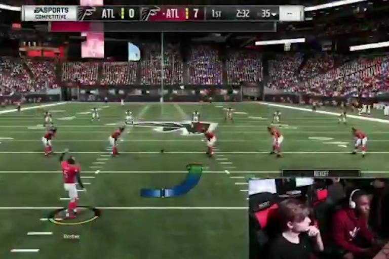 Tela de plataforma de streaming que mostrava o campeonato de videogame segundos antes do ataque a tiros