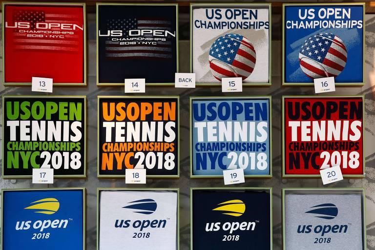 Cartazes da competição no Billie Jean King National Tennis Center