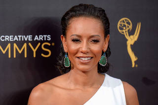 FILE PHOTO: British actress and singer Melanie Brown also known as Mel B arrives at the Creative Arts Emmys in Los Angeles, California