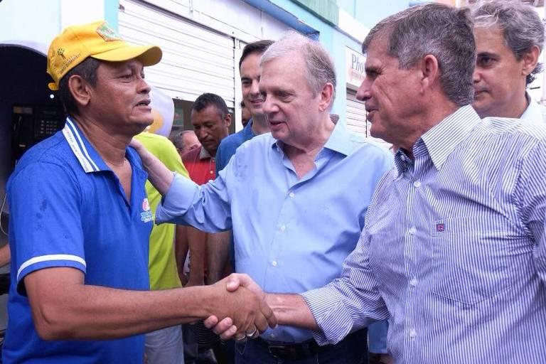 O candidato General Theophilo (PSDB), que tem o apoio do senador Tasso Jereissati