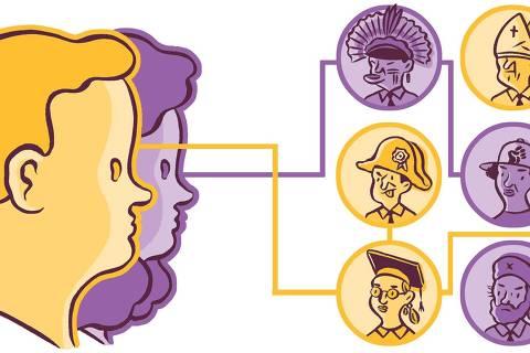 Ilustração de Fido Nesti para a ferramenta Match Eleitoral, da Folha