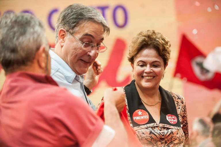 Em convenção na periferia de Belo Horizonte, o PT confirmou as candidaturas do governador Fernando Pimentel à reeleição e da ex-presidente Dilma Rousseff ao Senado