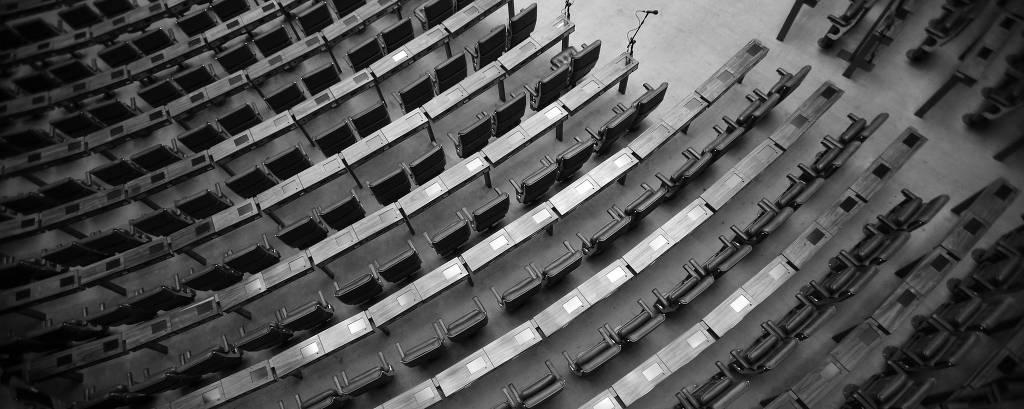 Assentos na Câmara dos Deputados, em Brasília