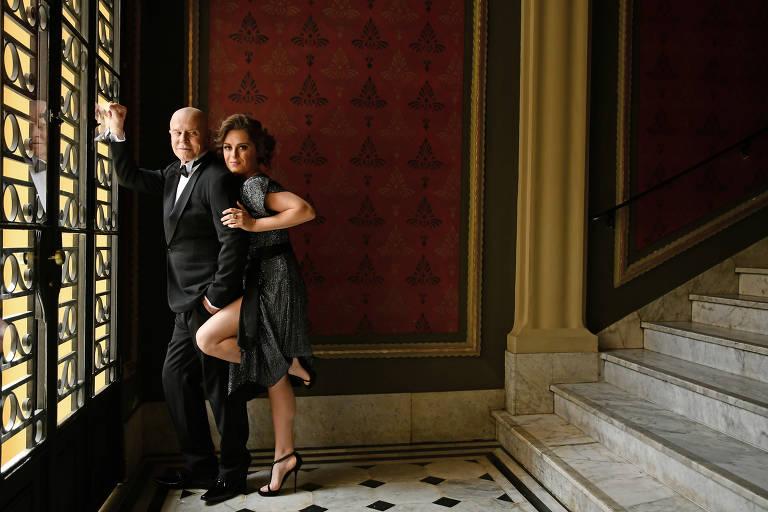 Alessandra Maestrini e Miguel Falabella mestres de cerimônia do Prêmio Bibi Ferreira do ano passado no Teatro Renault